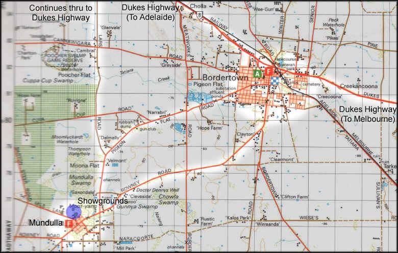 Mundulla Show Map